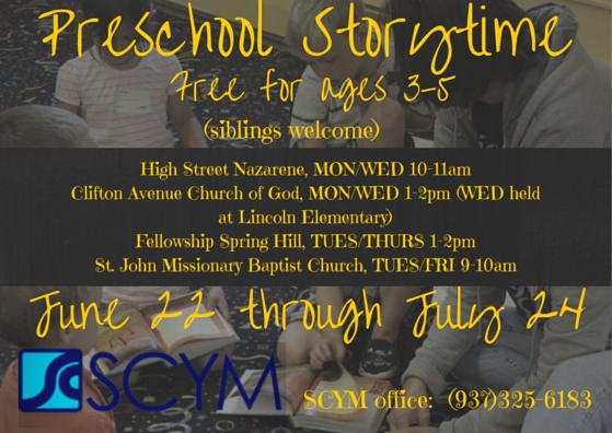 Preschool storytimes 2015